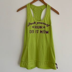 "lululemon Run Energy ""Push Yourself' Tank Sz6"